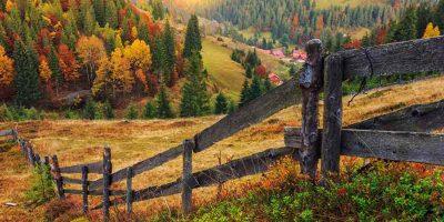 Осень, поле, деревня