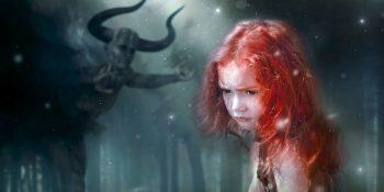 девушка, девочка, страх, чудовище
